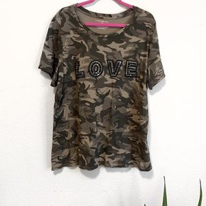 Lane Bryant Camo Love Embellished Tee